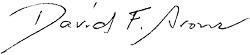 David Aron's Signature