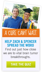 Find out just how close we are to vital brain tumor breakthroughs - Take the Quiz