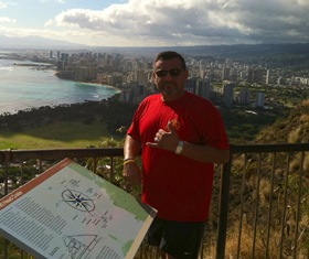 The Gunny climbs Diamond Head in Honolulu