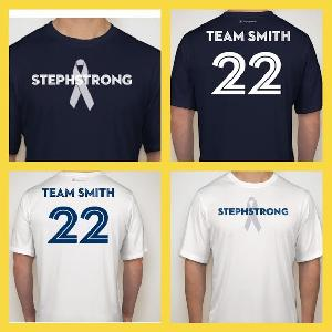 Our TEAM SMITH t-shirts!  To order, visit (copy & paste) https://www.booster.com/stephstrong